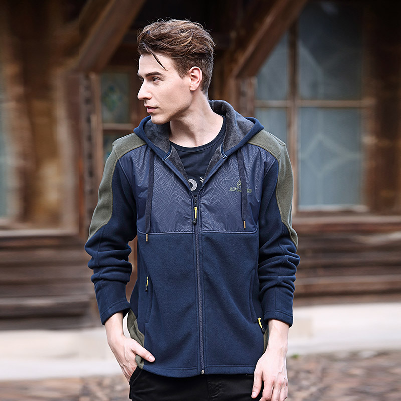 8e6e0565f91 Get Quotations · Dongkuan afs jeep jackets men s jackets men cardigan  hooded sweater coat loose big yards sports suit