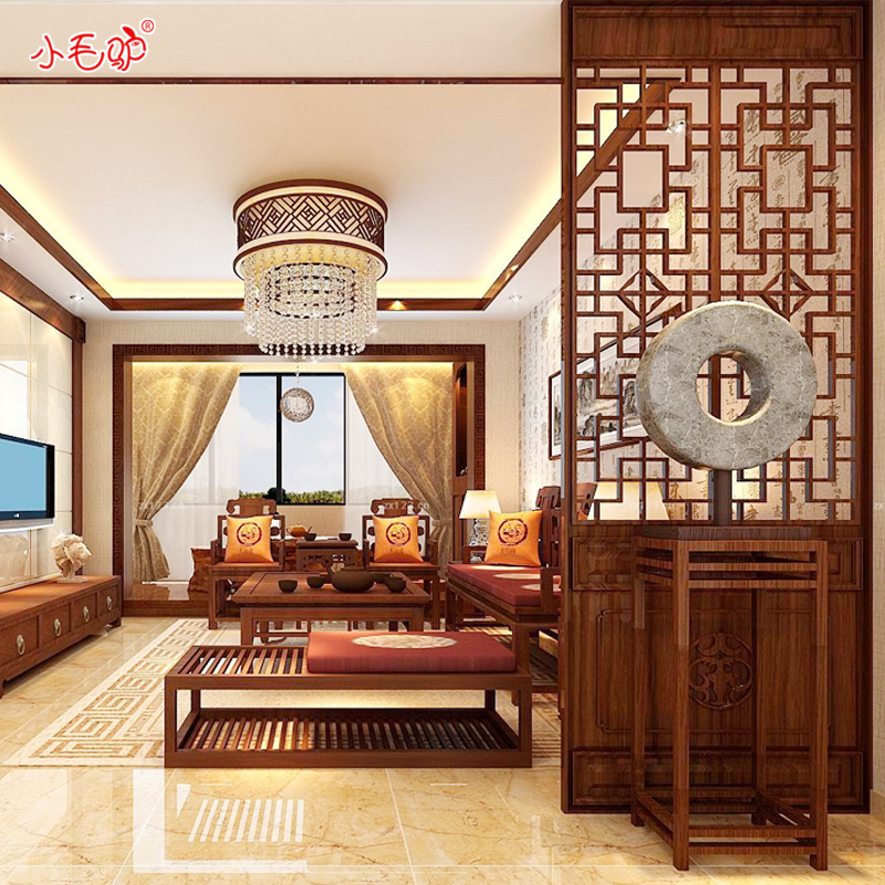 Dongyang wood carving antique chinese decoration living room entrance carved ceiling partition doors custom wood carving wood latticed screens