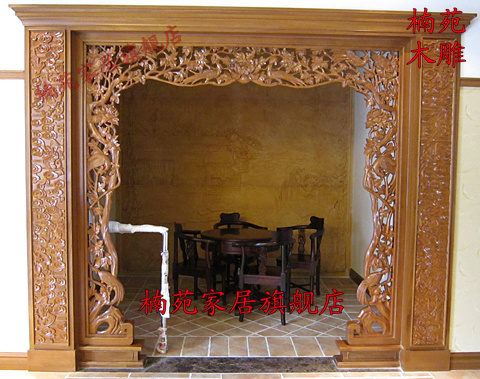 Dongyang wood carving off screen floor cover antique chinese wood carving camphor wood carving wood carving on portal moon gate