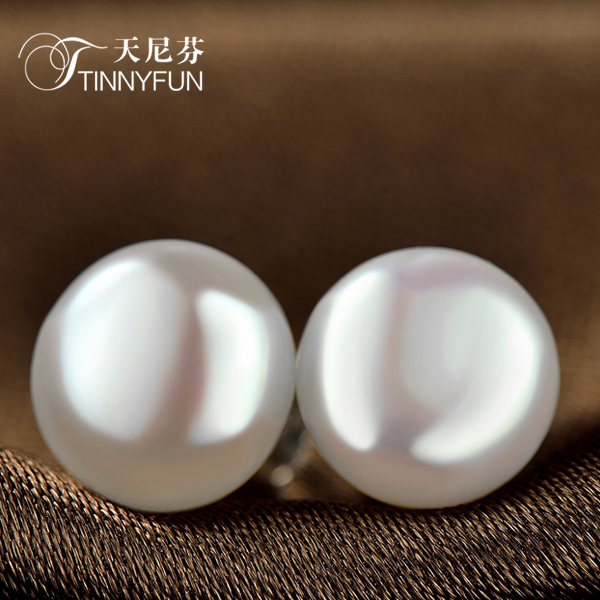 Doniphan day genuine s925 silver freshwater pearl earrings female korean fashion earrings earrings gift school students