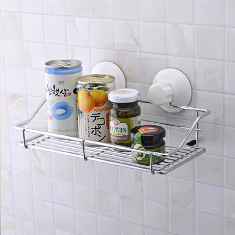 Double celebration powerful suction cup suction wall bathroom shelf bathroom shelf storage rack bathroom toilet wall