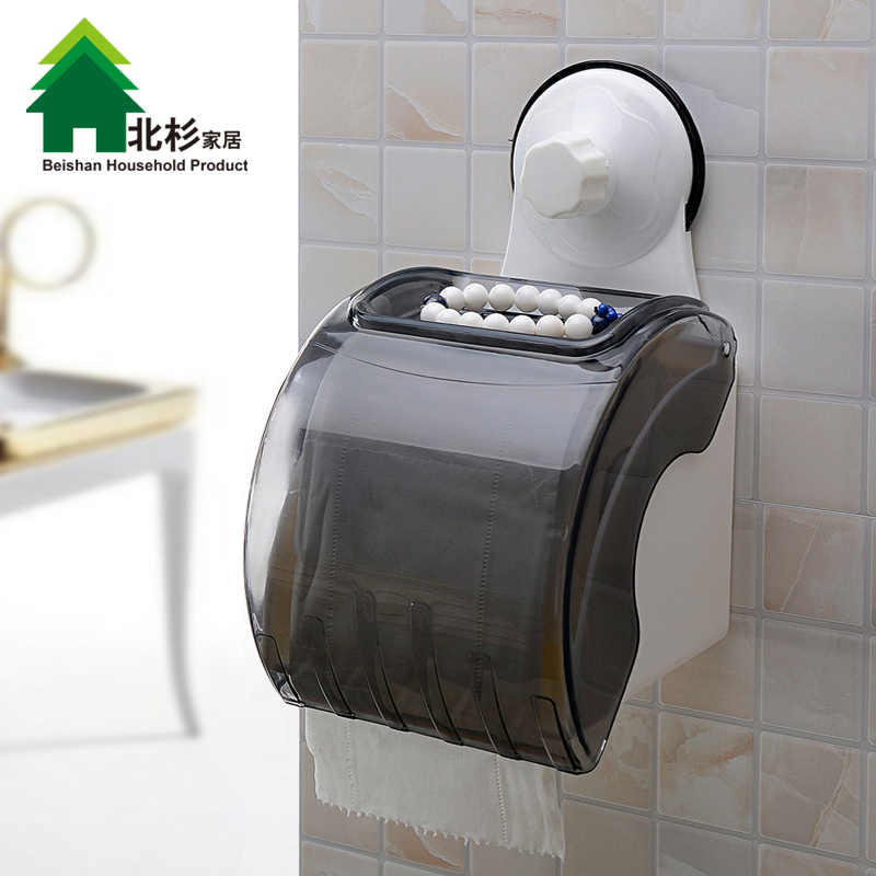 Double celebration powerful suction toilet tissue box waterproof roll holder bathroom towel rack creative rolls of toilet paper box free punch