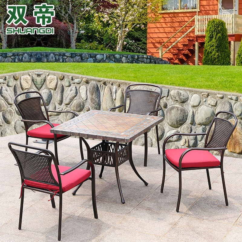 Double emperor outdoor furniture outdoor patio tables and chairs outdoor furniture balcony outdoor leisure furniture combination of wrought iron cast aluminum tables and chairs