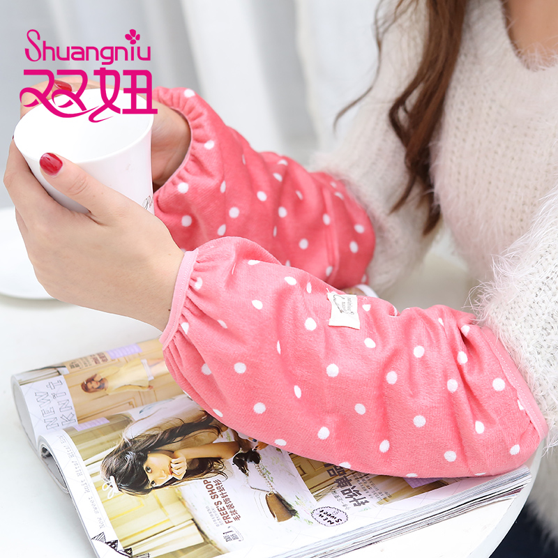 Double girl korean version autumn paragraph ms. antifouling long paragraph cuff office kitchen clean and dust protection sleeve cuff children short paragraph