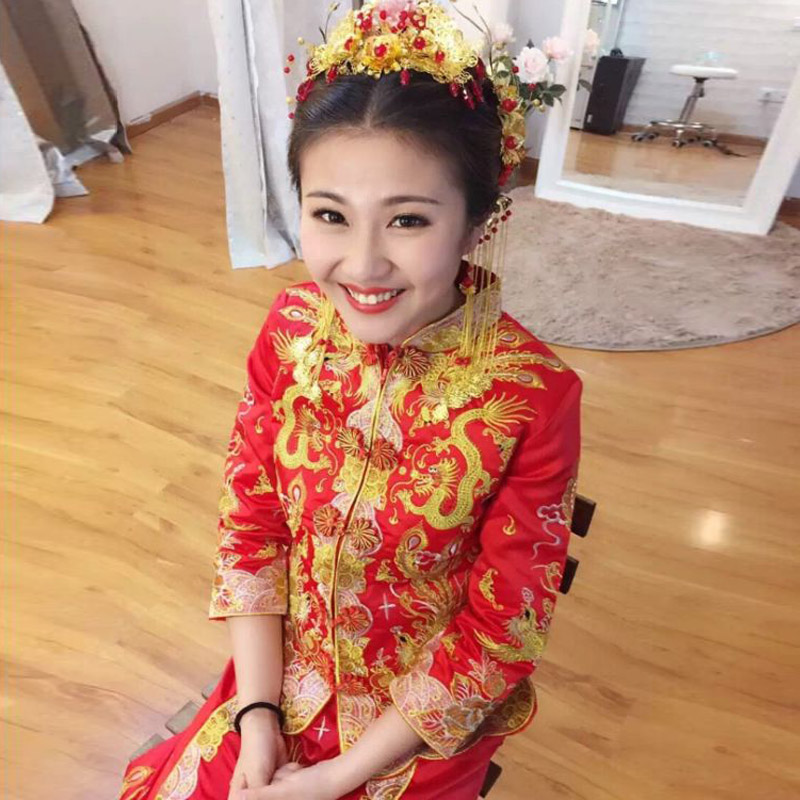 Dragon and phoenix gown dress xiu chinese wedding dress toast the bride wedding dress cheongsam dress 2016 new spring and summer hi clothes