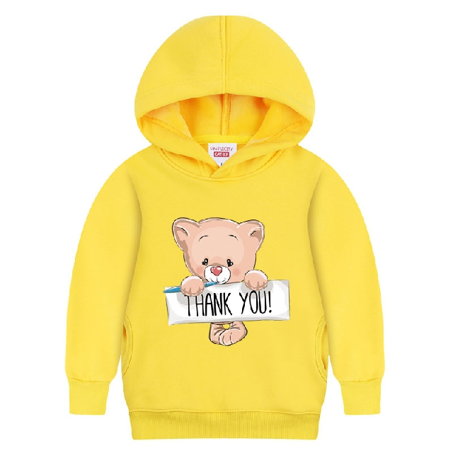Dragon guitar bear big virgin hedging sweater plus velvet autumn and winter children's clothing boys small children coat thick coat