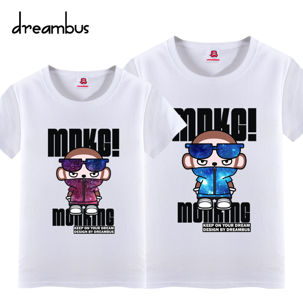 Dream bus ape brother korean version of the star cool dblove leisure lovers cotton men short sleeve t-shirt 002