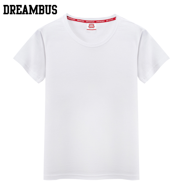 Dream bus colorful thin soft and comfortable breathable absorbent cotton round neck t-shirt short sleeve t t-shirts for men and women thin section
