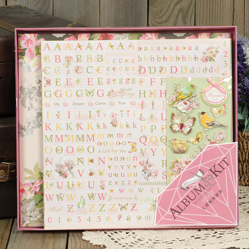 Dreamday creative album album diy handmade materials package full of love album set sak