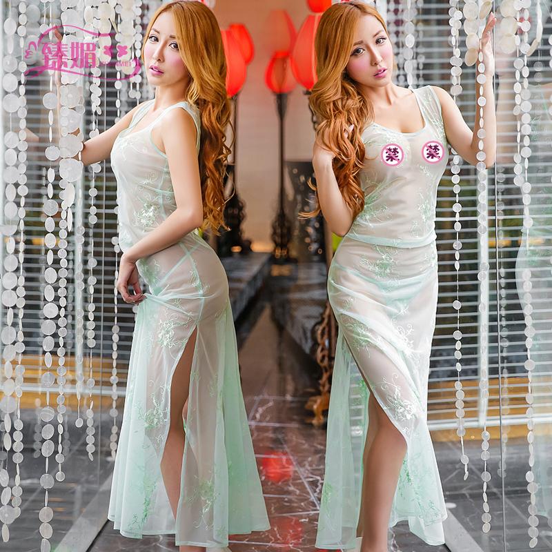 bd6cd0d9ef0 Get Quotations · Dress uniforms contains adult adult sexy lingerie chest a  perspective pyjamas women show evening dress shop