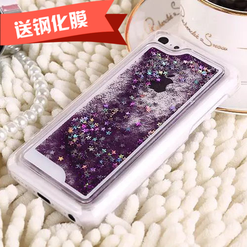 Drill shield liquid quicksand stars iphone5c 5c apple phone shell protective shell korea lowfat quicksand phone shell