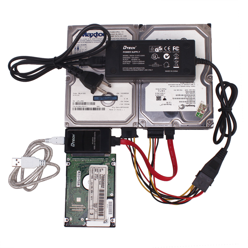 Dtech dt-8003a hard drive is easy to drive line usb transfer idesata easy to drive usb to sata cable with power