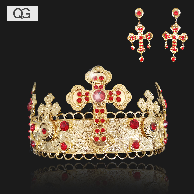 Dumping country wedding dress bridal headdress hair accessories wedding suit wedding accessories necklace earrings three sets of jewelry accessories