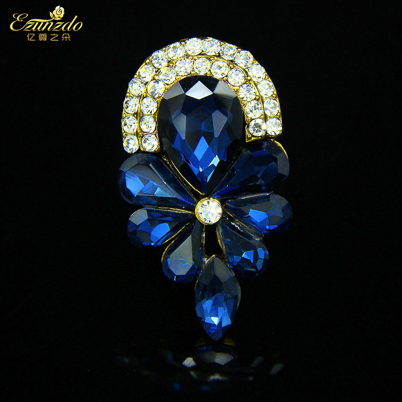 Duo of hundreds of millions of respect for retro gem brooch female accessories collar flower brooch crystal brooch korea collar pin jewelry