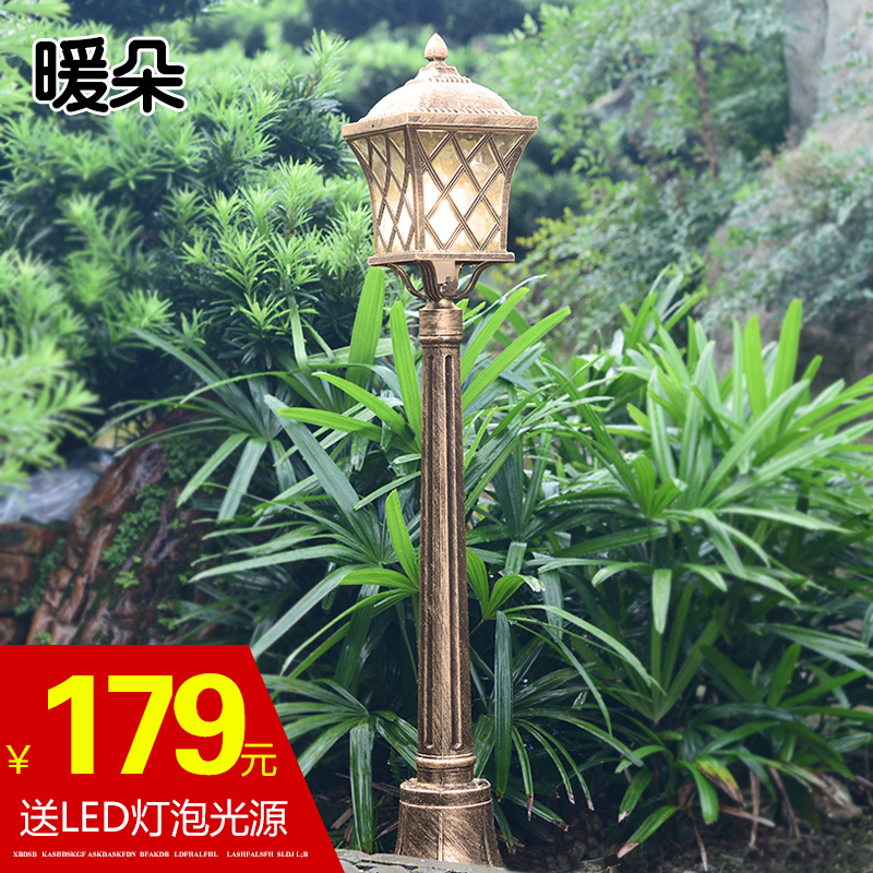 Duo warm continental lawn light lawn lights garden lights outdoor lights led waterproof outdoor garden wall street lamp landscape