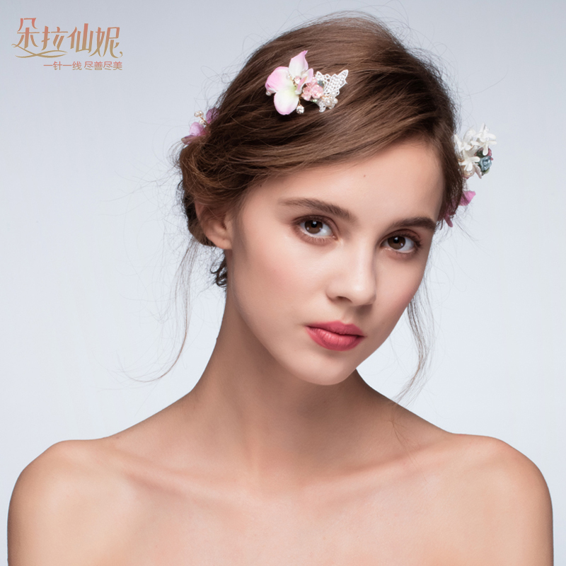 Duolaxianni weaving dreams. korean romantic flowers bridal headdress headdress portrait photography studio late combo accessories