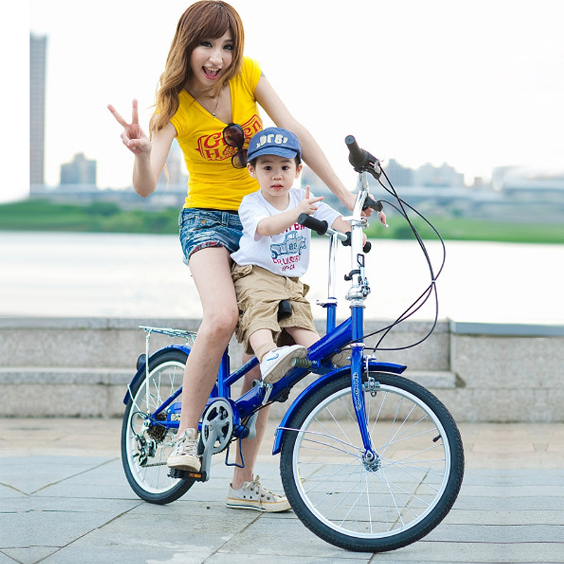 Duomileite paternity mother and baby car car bike for women with children can be a double ladies city bike