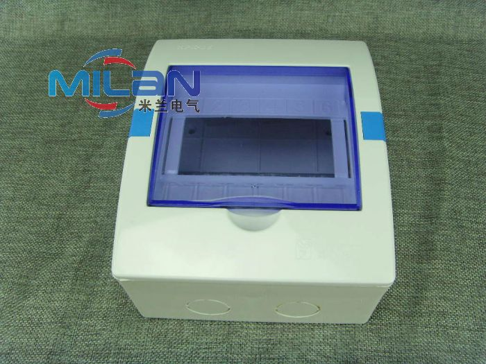 Dz47 circuit breaker box distribution box strong electric box empty open box empty box plastic box with lid 6 circuit surface mounted
