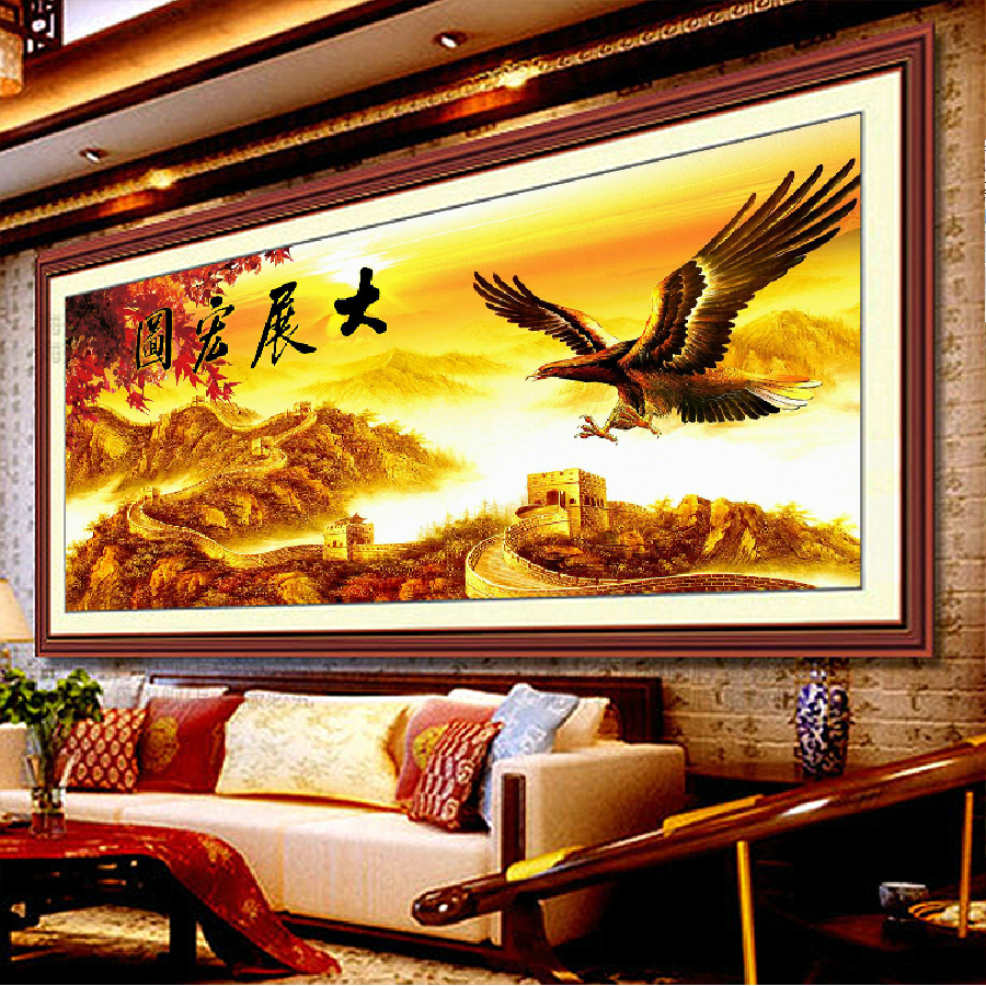 Eagle wings eagle grand plans stitch stitch great success of the new living room office room 3d printing stitch