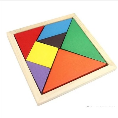 Early childhood educational wooden jigsaw puzzle jigsaw puzzle cognitive school seven tangram puzzle wooden toys