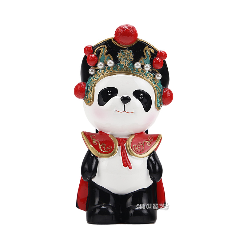 Eastern workers italian opera desktop ornaments cartoon panda sichuan opera face to send foreigners small gifts souvenirs