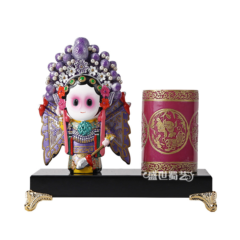 Eastern workers italian young eight sister q version of peking opera characters pen desktop ornaments handmade drawing new promotions