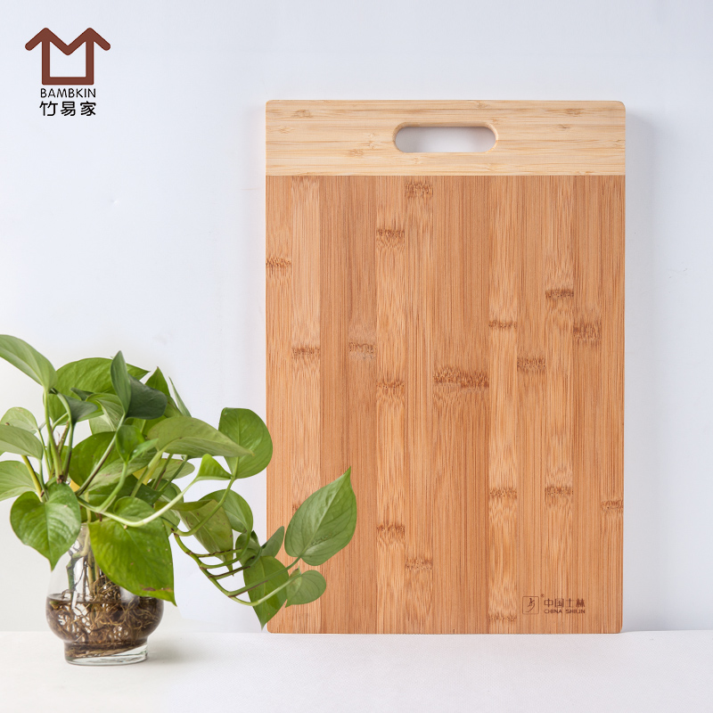 Easy home rectangular bamboo cutting board kitchen chopping chopping board cutting board ganmian board bamboo thick bamboo wood cutting board chopping fruit plate