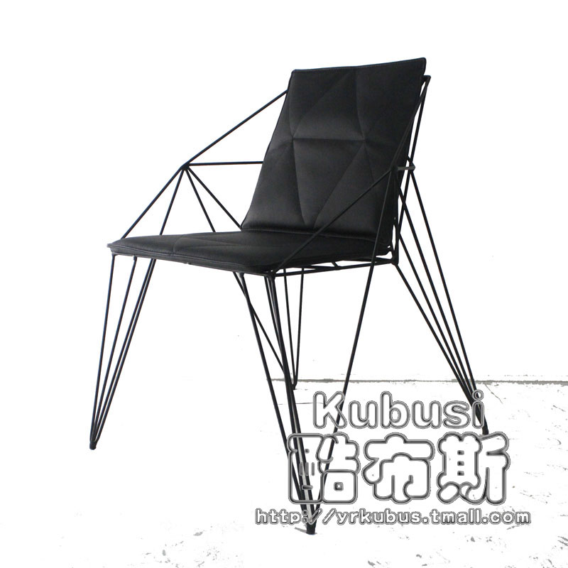 Get Quotations · Eat Chair Design Chair Chair Lounge Chair Geometric Lines Metal  Wire Chair Chair Creative