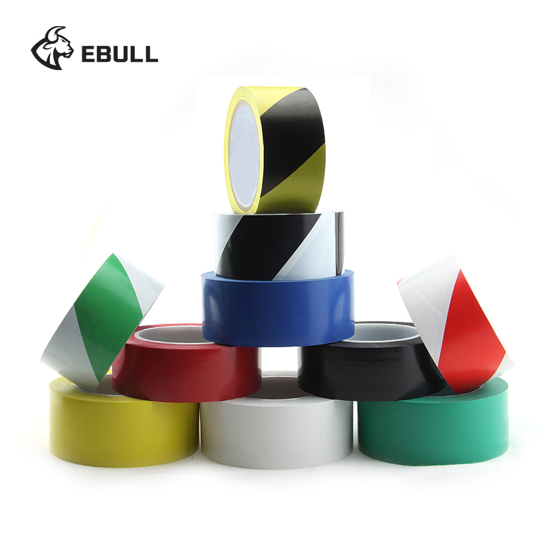 Ebull 33M471PVC clean room floor tape black and yellow warning tape crossed the 3 m with stickers