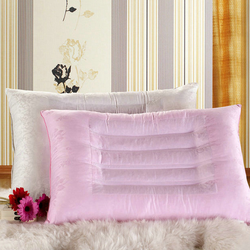 Edie dream cotton satin jacquard pillow single health care neck pillow cassia magnetic stripe a zx04