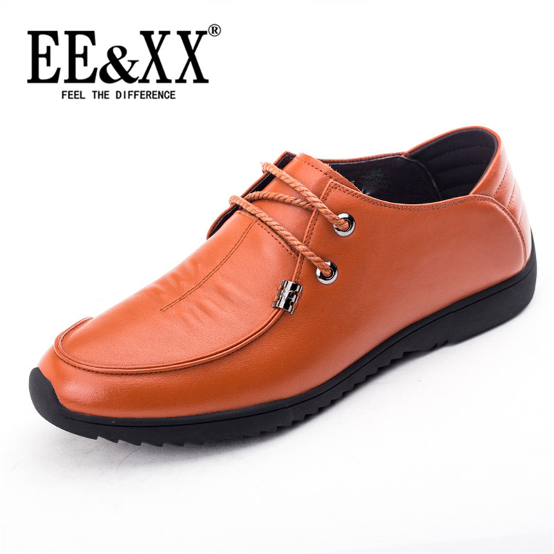 Eexx new business first layer of leather lace round men's casual shoes lazy low shoes breathable leather 5863