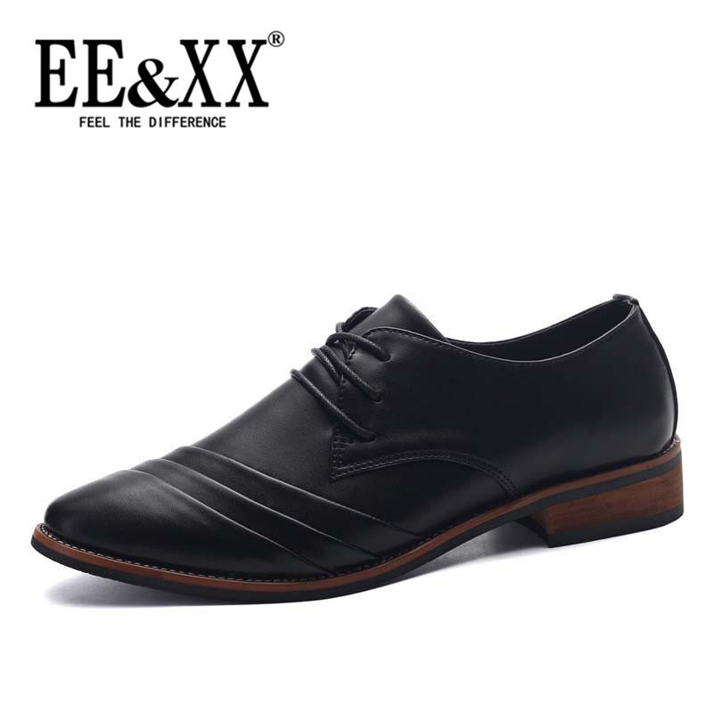 Eexx shoes pointed men's elevator shoes 2016 new england autumn and winter men's business casual shoes breathable men's shoes tide 2057
