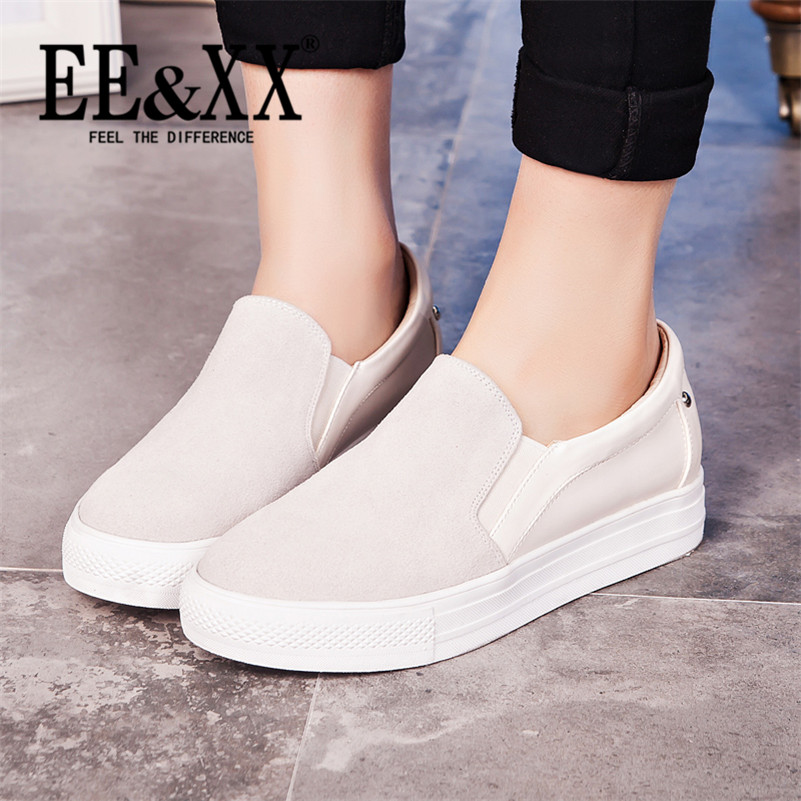 EEXX2016 spring new deep mouth round flat with stylish and comfortable shoes to help low shoes rivet flat shoes loafers 6804