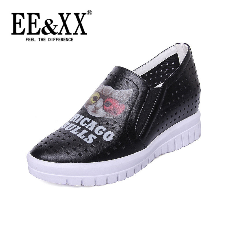 EEXX2016 summer new simple solid color sets foot shoes wild comfortable low shoes single shoes hollow shoes women 6730