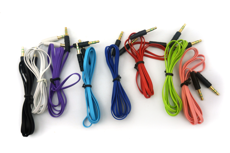 Eight eagle color 3.5 noodle aux audio cable audio cable 3.5 pairs recorded line flat line 3.5 male to male cable 1 m