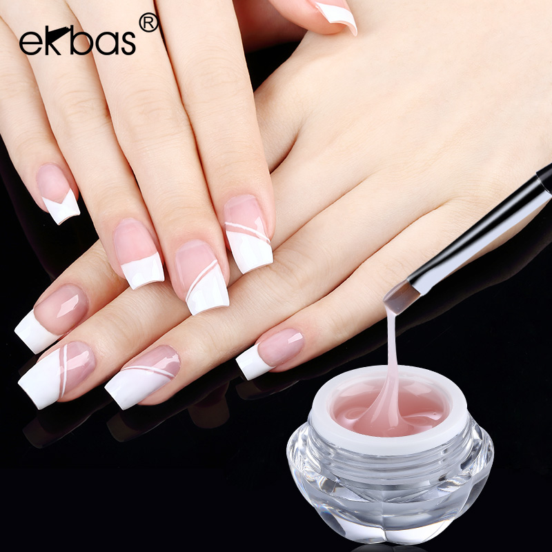 Ekbas nail phototherapy extension glue gel extension glue phototherapy plastic removable transparent plastic model glue glue stick drill