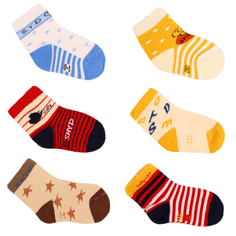 El nino island 0-1-3-5-year-old years dongkuan baby socks towel socks baby socks combed cotton socks child