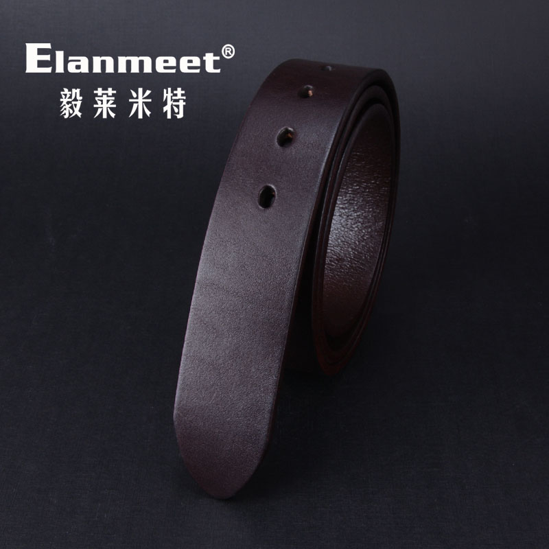Elanmeet 5mm body with thick single layer leather oval hole with a first layer of leather waist belt article article