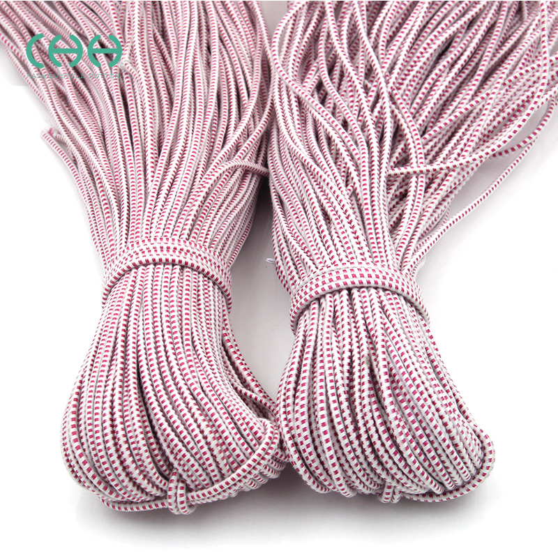 Elastic band round elastic rope tied elastic rope elastic rope accessories imported rubber band rubber band pants thin red