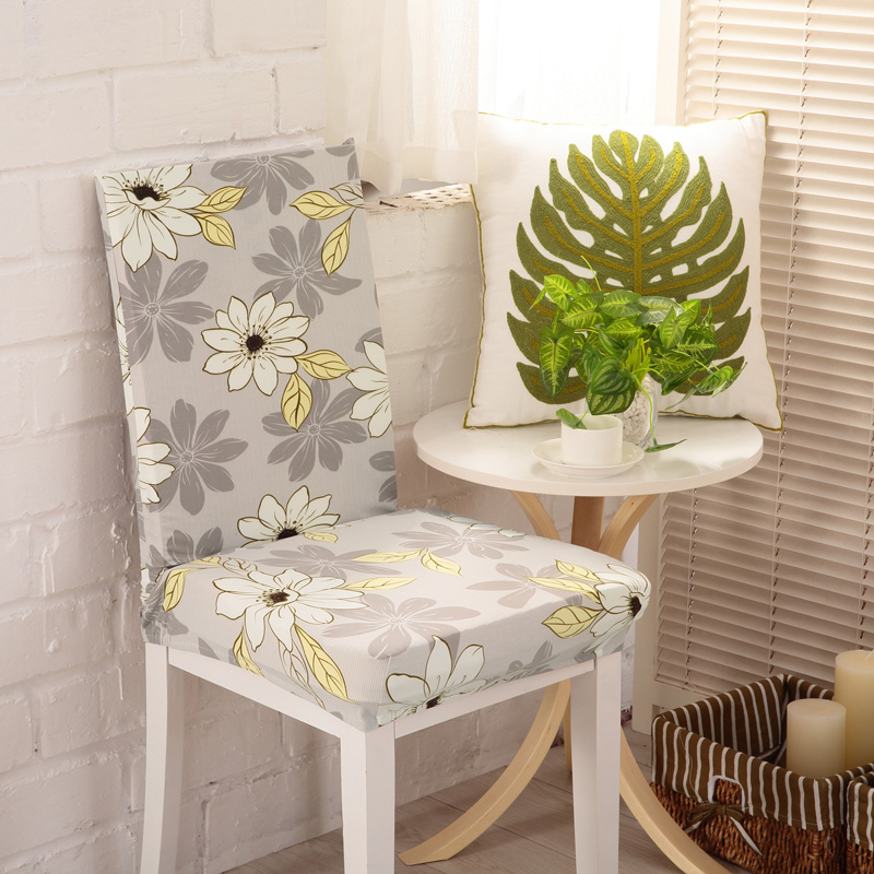 Get Quotations · Elastic Minimalist Dining Chair Office Computer Chair  Coverings Siamese Chair Back Cover Hotel Chair Cover Hotel