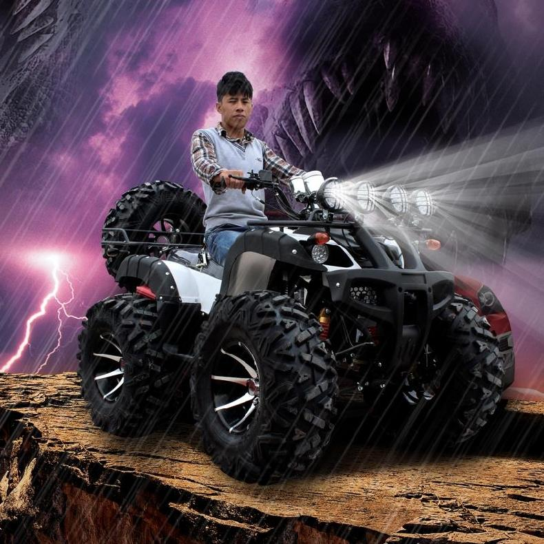 Electric motorcycle four big bull atv buggy car battery scooter four axle drive tourism desert