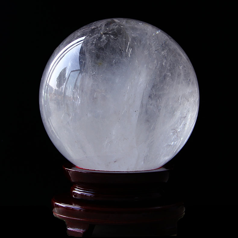 Elegant crystal natural white crystal ball natural crystal ball crystal ball polished stone 22.4 cm large water polo
