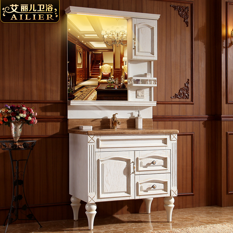 Elle children american red oak bathroom cabinet american jane european antique wood bathroom cabinets washbasin cabinet floor wash