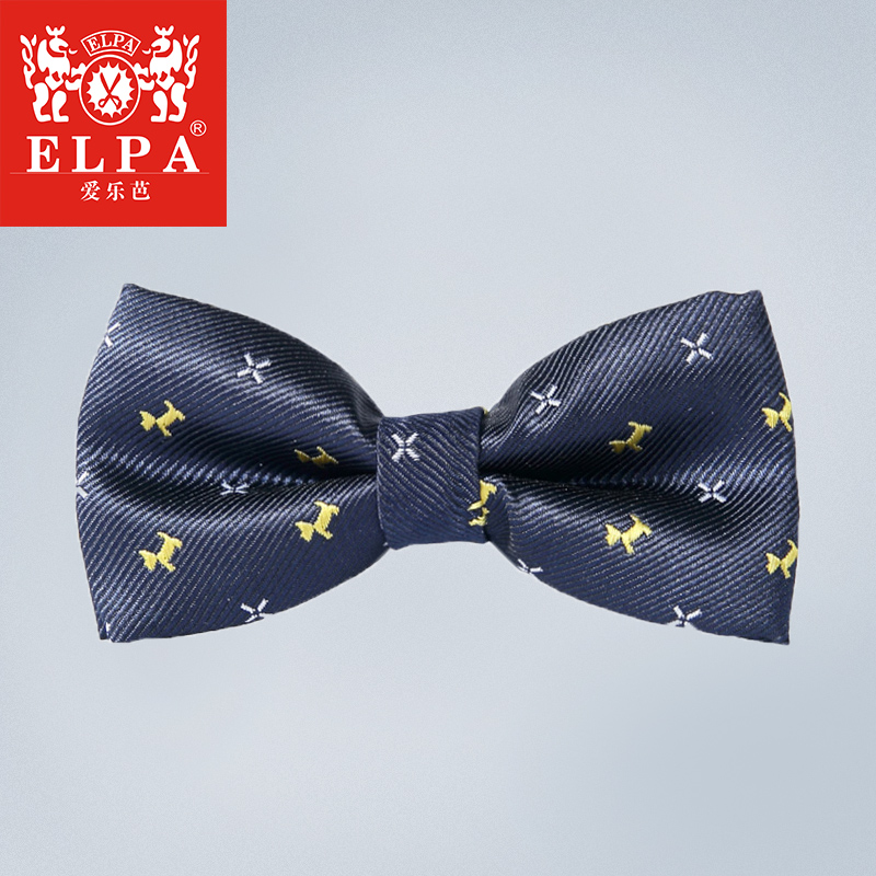 Elpa 2016 spring and summer new children's clothing boys silk jacquard tie dress suit collar flower accessories fall and winter