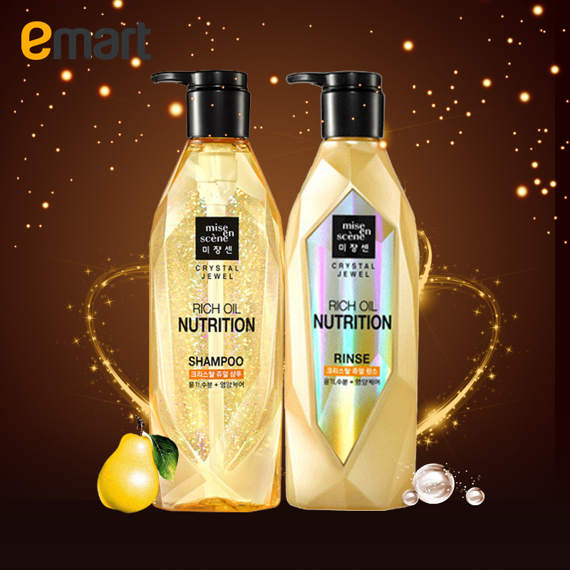 Emart overseas crystal gem nutrition beauty fairy shampoo conditioner set 600 ml * 2 & amp