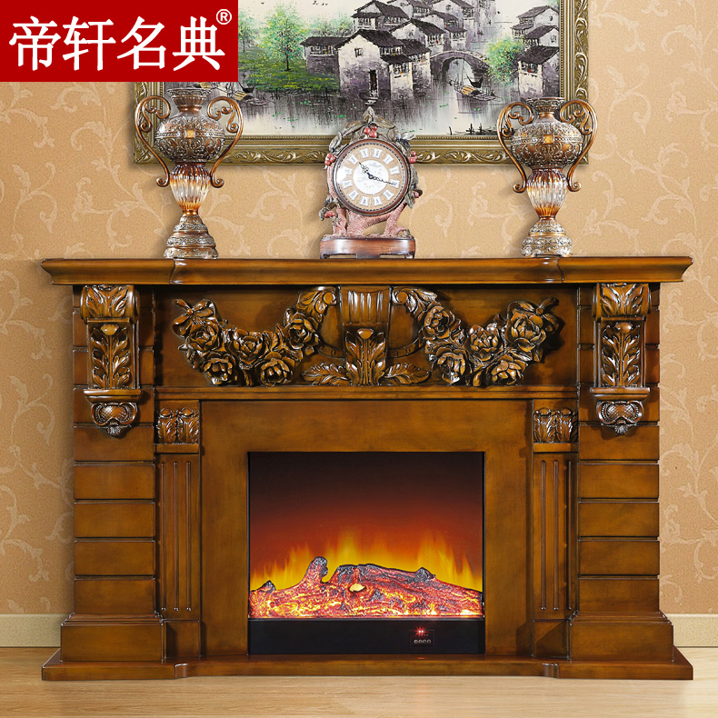 Emperor xuan code of european american wood fireplace mantel fireplace cabinet decorative fireplace electric fireplace heater led 1.86 m