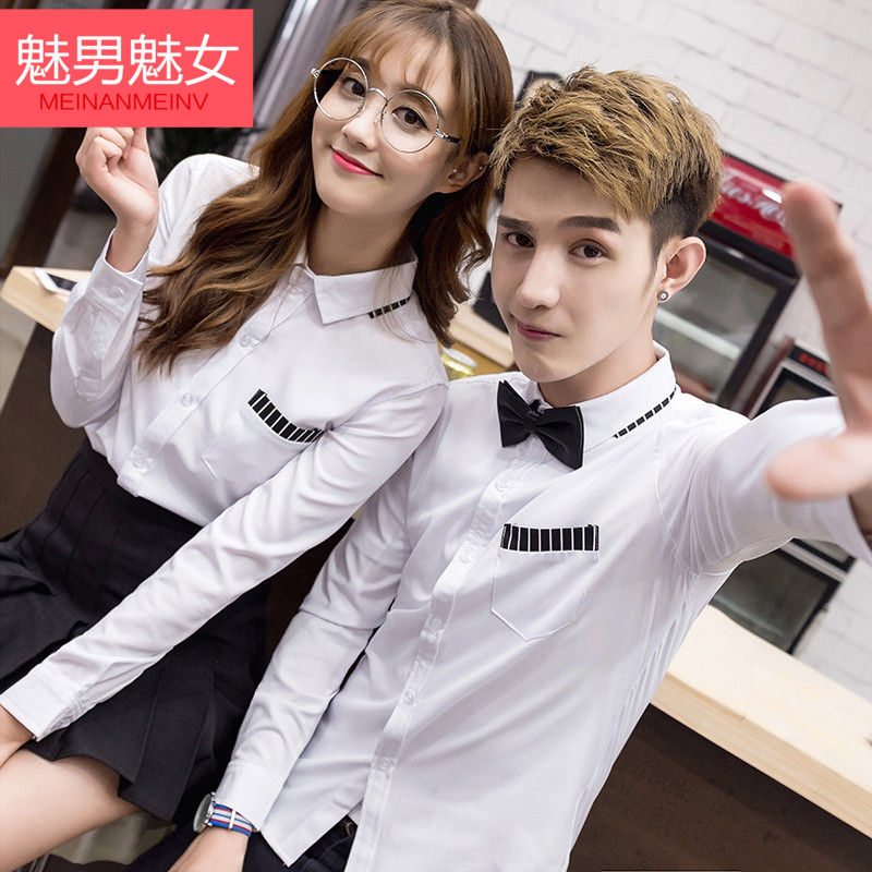 Enchantment enchantment male female 2016 autumn and winter fashion lovers fall and winter lovers korean version of the shirt work shirt