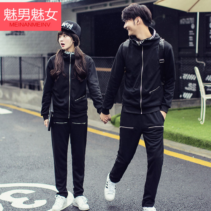 Enchantment enchantment male female 2016 autumn and winter korean couple sweater suit korean version of the trend of fashion lovers sweater suit ago