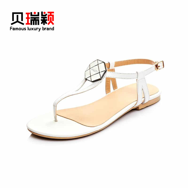487e50aa1aa93c Get Quotations · End custom brand berry glumes 2016 summer new european and american  ladies leather casual thong sandals