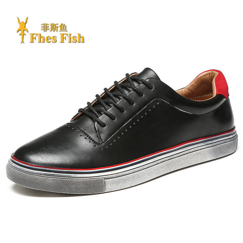 End custom brand fhesfish korean version of men's casual shoes wild fashion casual shoes to do the old retro
